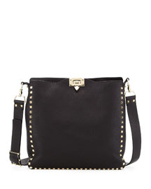 Rockstud Flip-Lock Messenger Bag