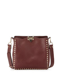 Rockstud Small Leather Hobo Bag