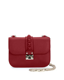 Rockstud Flap Small Shoulder Bag, Red