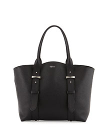 Legend Pebbled Small Shopper Bag, Black