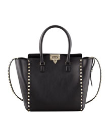 Rockstud Double-Handle Shoulder Tote Bag