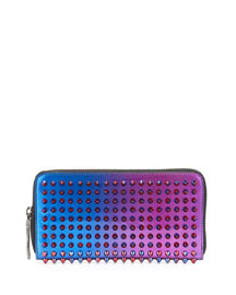 Panettone Scarabe Spike Stud Continental Wallet, Fuchsia