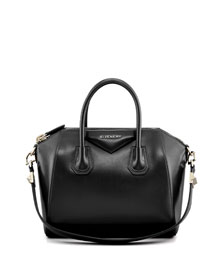 Antigona Small Box Calf Leather Satchel Bag, Black