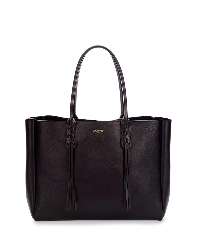 Lanvin Leather Medium Fringe Tote Bag, Size: M, Brown