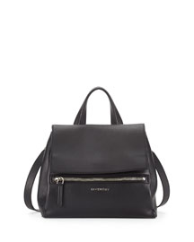 Pandora Pure Small Leather Satchel Bag, Black