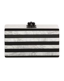 Jean Confetti Striped Acrylic Clutch Bag