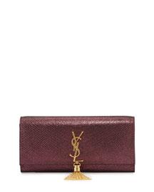 Monogram Stamped Clutch Bag, Purple