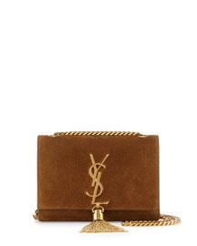 Monogram Small Suede Tassel Crossbody Bag