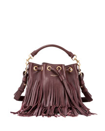 Emmanuelle Small Fringe Bucket Bag