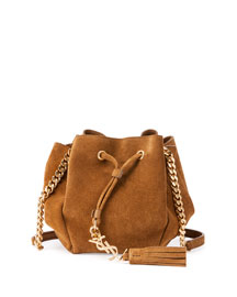 Monogram Tassel Mini Bucket Bag