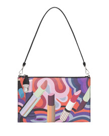 Saffiano Lipstick-Print Clutch Bag