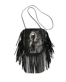 Anita Leather Fringe Crossbody Bag