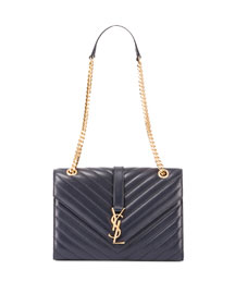 Monogram Medium Quilted Shoulder Bag