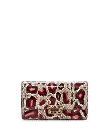 Python Envelope Clutch Bag