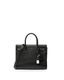 Sac de Jour Leather Baby Carryall Bag, Black