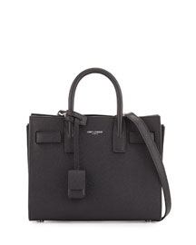 Sac de Jour Leather Nano Carryall Bag, Black
