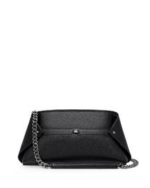 Ai Medium Leather Messenger Bag, Black
