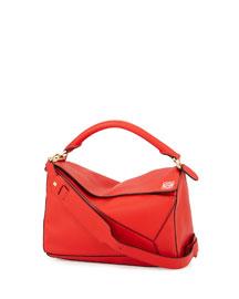 Flamenco Knot Small Bucket Bag, Red