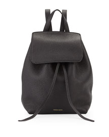 Tumbled Leather Mini Backpack