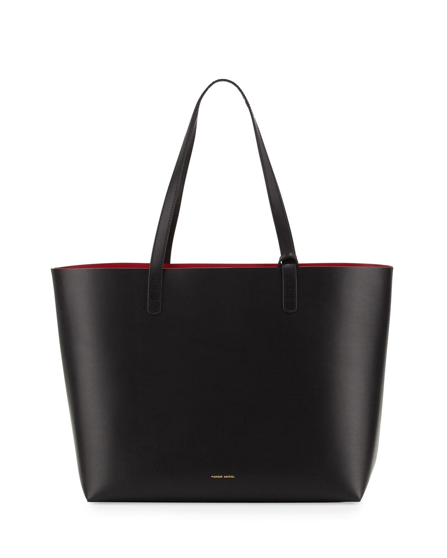 Mansur Gavriel Large Vegetable-Tanned Leather Tote Bag, Size: L, Cammello/Rosa