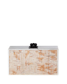 Jean Cork-Inlay Acrylic Clutch Bag