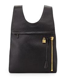 Alix Calfskin Small Backpack, Black
