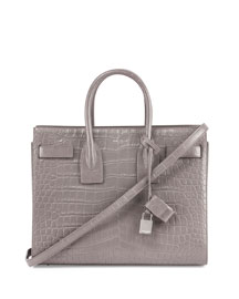 Sac De Jour Croc-Stamped Small Carryall Bag