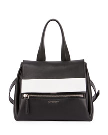 Pandora Pure Bicolor Satchel Bag, Black/White