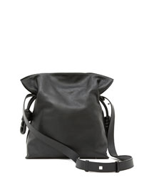 Flamenco Knot Bucket Bag, Black