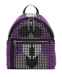 Karlito Allover Studded Backpack