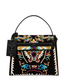 My Rockstud Dragon Embroidered Flap Bag, Black
