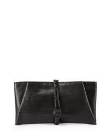Pickstitched Toggle Clutch Bag