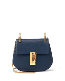 Drew Small Shoulder Bag, Navy