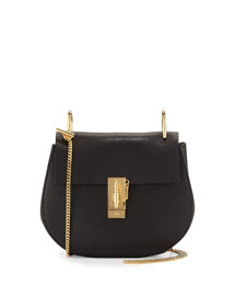 Drew Small Lambskin Shoulder Bag, Black