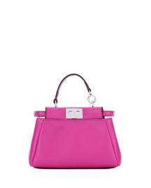 Peekaboo Micro Leather Satchel Bag