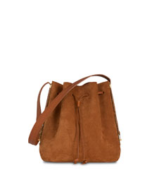 Gibson Suede Bucket Bag, Tan