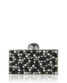 Perfect Rectangle Clutch Bag, Silver