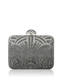Large Slim Rectangle Clutch Bag, Gray