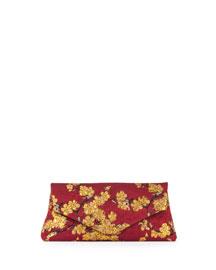 Cherry Blossom Jacquard Clutch Bag