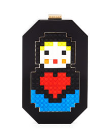 Jane Babooska Acrylic Clutch Bag