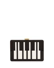 Andy Lego?? Piano Clutch Bag, Black/White