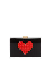 Grace Lolita Lego?? Heart Box Clutch Bag
