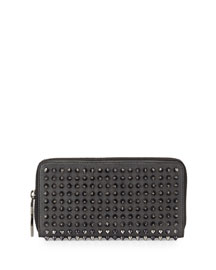 Panettone Spike Stud Continental Wallet, Anthracite