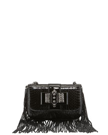 Sweety Charity Beaded Watersnake Crossbody Bag