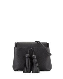 Leonica Tassel Crossbody Bag, Black