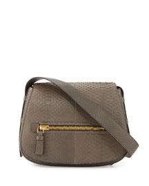 Jennifer Matte Python Saddle Bag