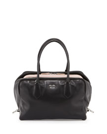 Large Soft Calf Inside Bag, Black (Nero)
