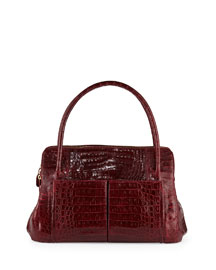 Linda Medium Crocodile Tote Bag
