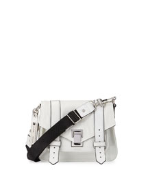 PS1 Small Nylon Crossbody Bag, Optic White