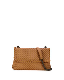 Olimpia Medium Shoulder Bag, Camel